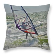 Parasurfing Throw Pillow by SC Heffner