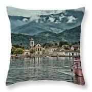 Paraty Bay II Throw Pillow