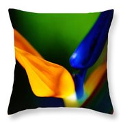 Pardise Birds Throw Pillow