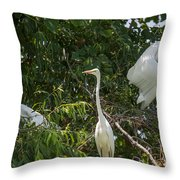 Parents Protecting The Nest Throw Pillow