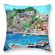 Parga In Greece Throw Pillow