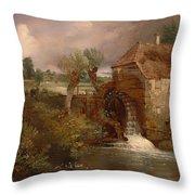 Parham Mill Throw Pillow