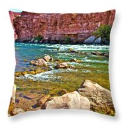 Pariah Riffle Near Lee's Ferry In Glen Canyon National Recreation Area-arizona Throw Pillow