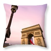 Paris - Arc De Triomphe  Throw Pillow