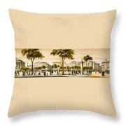 Paris 1878 Throw Pillow