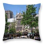 Paris Artist Row Throw Pillow