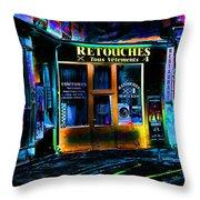 Paris At Night Throw Pillow