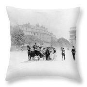 Paris Avenue Foch, C1895 Throw Pillow