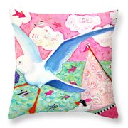 Paris Awaits Throw Pillow