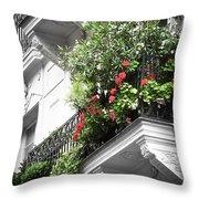 Paris Balcony Throw Pillow