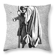 Paris Beggar, C1740 Throw Pillow