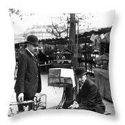 Paris Bird Vendors, 1900 Throw Pillow