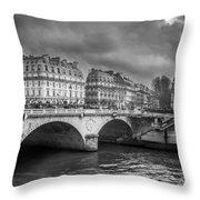 Paris Black And White Throw Pillow