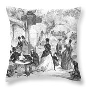 Paris: Boulevard, 1872 Throw Pillow