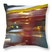 Paris Bus Pont Au Change  Or One Half Step Away From The Hereafter Throw Pillow