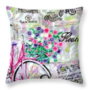 Paris By Jan Marvin Throw Pillow