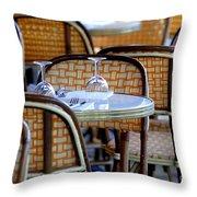 Paris Cafe 2 Throw Pillow