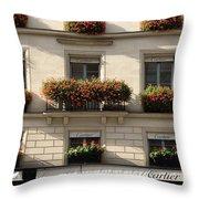 Paris Cartier Window Boxes - Paris Cartier Windows And Flower Boxes - Cartier Paris Building  Throw Pillow