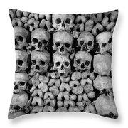 Paris Catacombs Throw Pillow