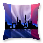 Paris City Throw Pillow