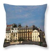 Paris City Life Throw Pillow