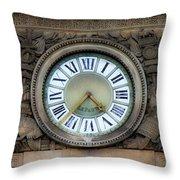 Paris Clocks 1 Throw Pillow