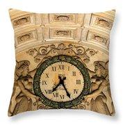 Paris Clocks 2 Throw Pillow by Andrew Fare