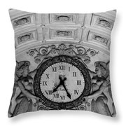 Paris Clocks 3 Throw Pillow by Andrew Fare