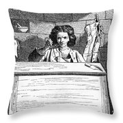 Paris Cobbler, C1740 Throw Pillow