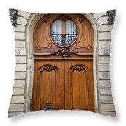 Paris Doors Throw Pillow