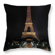 Paris: Eiffel Tower Throw Pillow
