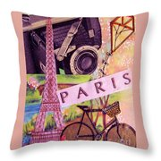 Paris  Throw Pillow by Eloise Schneider
