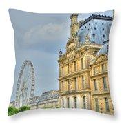 Paris Ferris Wheel Throw Pillow