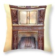 Paris Fireplace Throw Pillow
