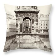 Paris Fountain, C1858 Throw Pillow