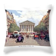 Paris France - The Rue Royal And The Madeleine - 1910 Throw Pillow