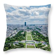 Paris From Above Throw Pillow