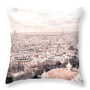 Paris From Above - View From Sacre Coeur Basilica Throw Pillow