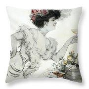 Paris Holiday  1904 Throw Pillow