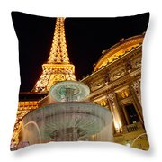 Paris Hotel And Casino In Las Vegas Throw Pillow