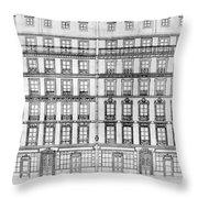 Paris Houses, 1841 Throw Pillow