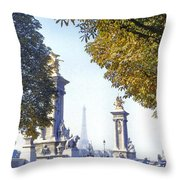 Paris In The Fall 1954 Throw Pillow by Chuck Staley