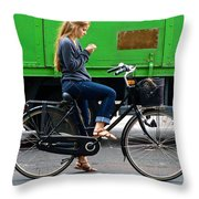 Paris Interlude Throw Pillow