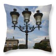 Paris Lamp Post Throw Pillow