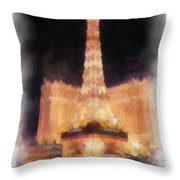Paris Las Vegas Photo Art Throw Pillow