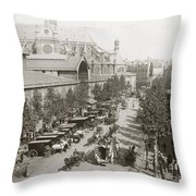 Paris: Les Halles, C1900 Throw Pillow