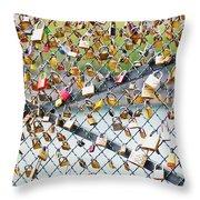 Paris - Locks Of Love Throw Pillow
