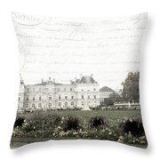 Paris Lore Throw Pillow