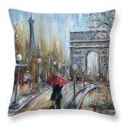 Paris Lovers II Throw Pillow