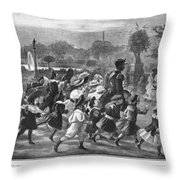 Paris Luxembourg Gardens Throw Pillow